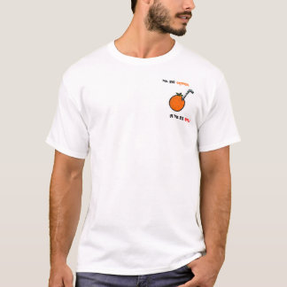 Camiseta anaranjada grande del arrastre de la