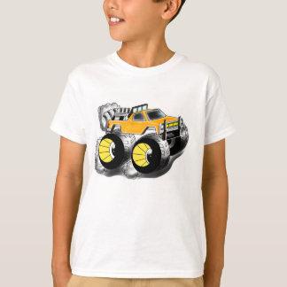 Camiseta anaranjada grande del monster truck para