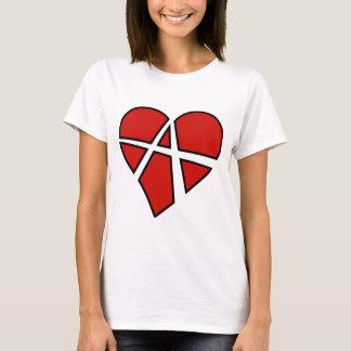 Camiseta Anarquía imprudente del corazón de las relaciones