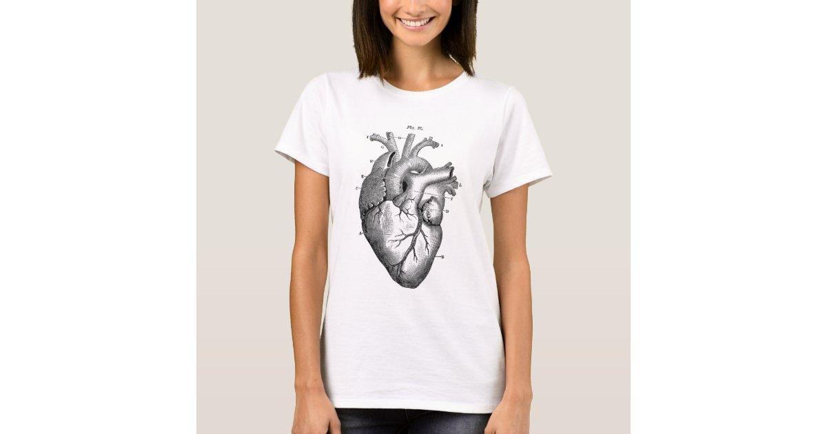 Camiseta Anatomía-Corazón-Imagen-Vintage   Zazzle.es