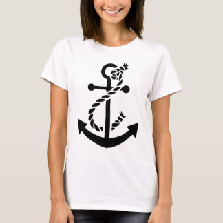 Camiseta Ancla náutica del infante de marina de la marina