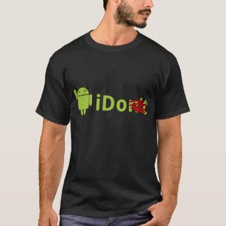 Camiseta androide del negro del iDo
