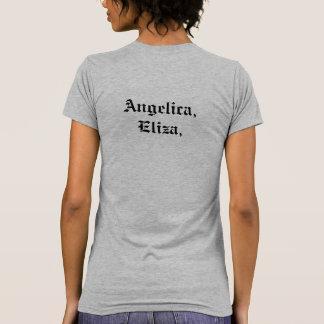 Camiseta Angélica, Eliza, y Peggy. Cita de Hamilton