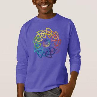 Camiseta Anillos célticos de Knotwork del arco iris