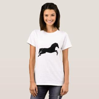 camiseta animal de salto del caballo