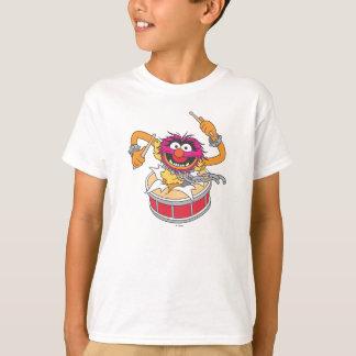 Camiseta Animal que se estrella a través de los tambores