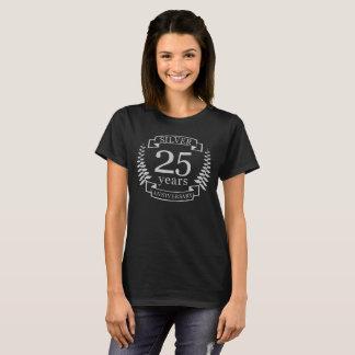 Camiseta Aniversario de bodas de plata 25 años