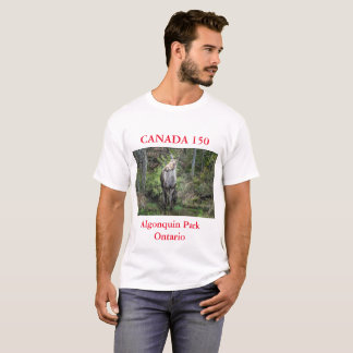 Camiseta Aniversario de Canadá 150,    foto de los alces de