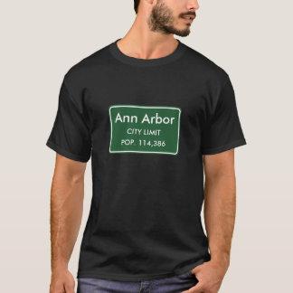 Camiseta Ann Arbor, muestra de los límites de ciudad del MI