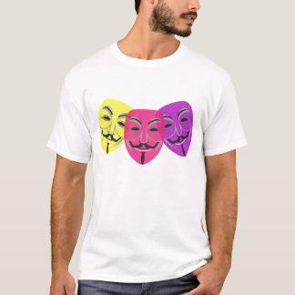 Camiseta anónima del logotipo de la máscara
