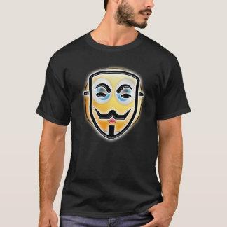 Camiseta anónima divertida de la máscara de Emoji