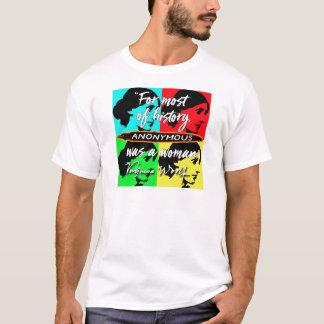 Camiseta Anónima era una cita de Virginia Woolf del ~ de la
