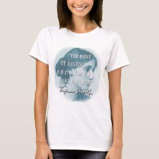Camiseta Anónimo era un azul de la cita de Virginia Woolf