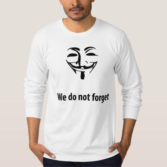 Camiseta Anonymous-No olvidamos