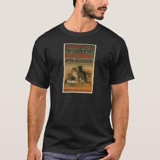 Camiseta Anuncio francés del vintage - gatos