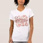 Camiseta apenada del dulce 16 bonitos del pétalo