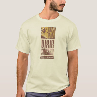 Camiseta apenada vintage cuadrado de la alameda de