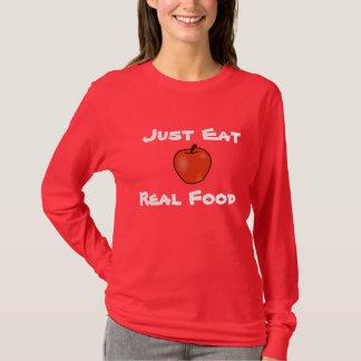 Camiseta Apenas coma la comida real