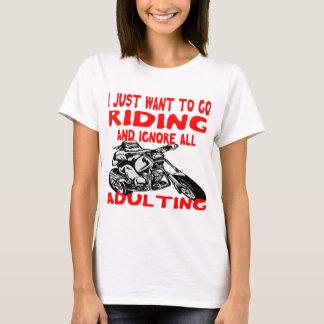 Camiseta Apenas quiero ir a montar e ignorar todo el