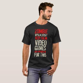 Camiseta Apocalipsis del zombi - guarde la calma que soy