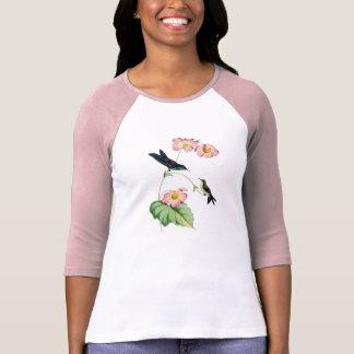 Camiseta apoyada púrpura de las señoras del