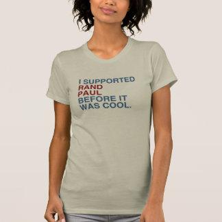 Camiseta Apoyé el rand Paul antes de que fuera fresco