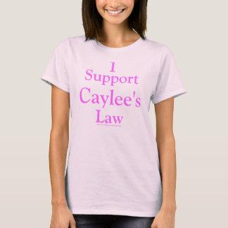 Camiseta Apoyo la ley de Caylee