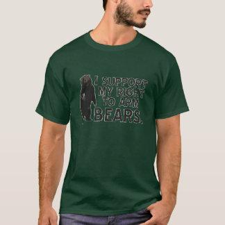 Camiseta Apoyo la mi derecha de armar osos