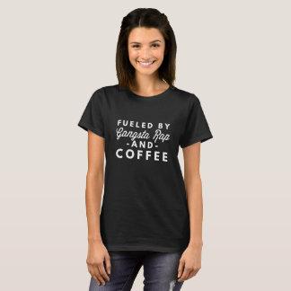 Camiseta Aprovisionado de combustible por el rap y el café
