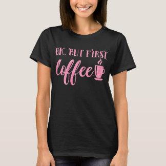 Camiseta Apruebe pero el decir divertido rosado de la