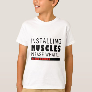 Camiseta Aptitud y músculos del gimnasio