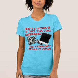 Camiseta Aquí está una imagen de mí que tiempo abandono el