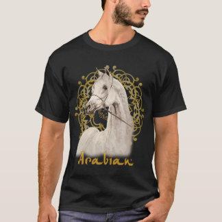 Camiseta árabe gris de la oscuridad del caballo