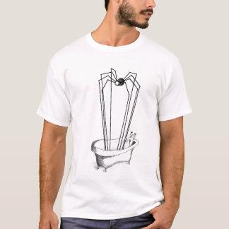 Camiseta araña en el baño