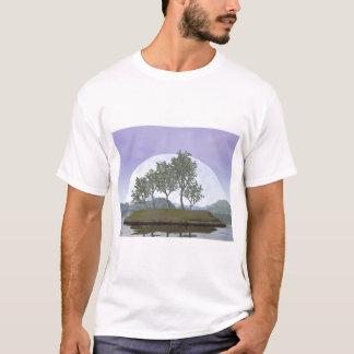 Camiseta Árbol con hojas liso de los bonsais del olmo - 3D
