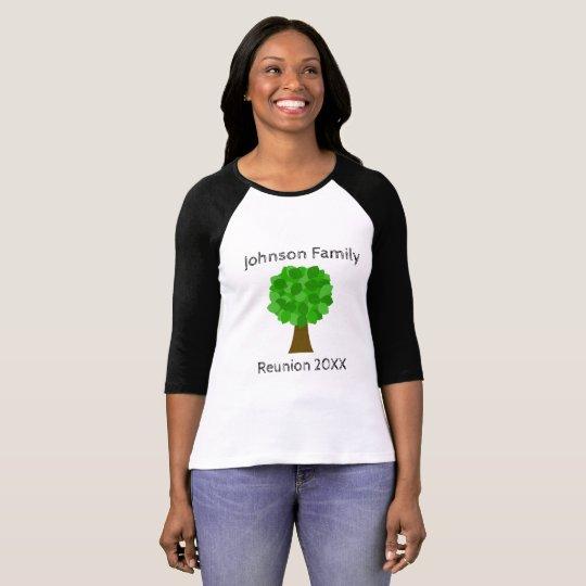 Camiseta ¡Árbol de la reunión de familia - modifiqúelo para