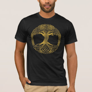 Camiseta Árbol de la vida de oro