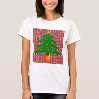 Camiseta Árbol de navidad con el fondo modelado