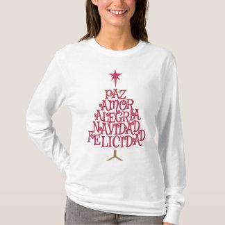 Camiseta Árbol de navidad tipográfico español