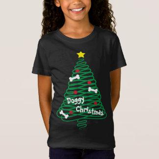 Camiseta Árbol del garabato del navidad del perrito