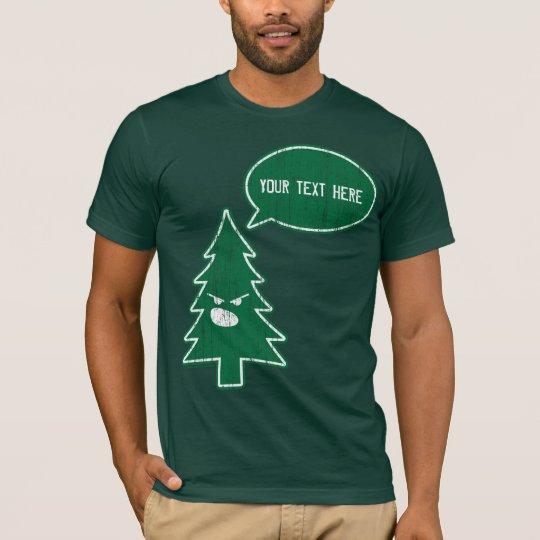 Camiseta Árbol enojado (espacio en blanco del vintage)