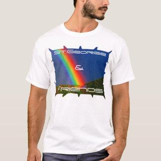 Camiseta arco iris 1, San Jorge, y, amigos