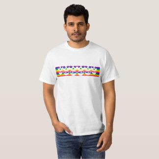 Camiseta arco iris del cráneo