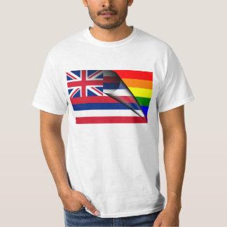 Camiseta Arco iris del orgullo gay de la bandera de Hawaii