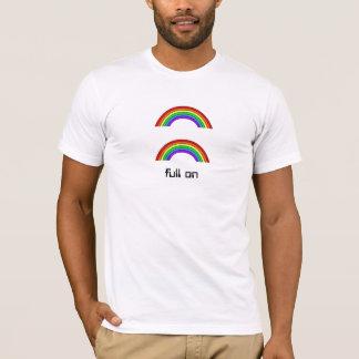 Camiseta arco iris doble, tan intenso