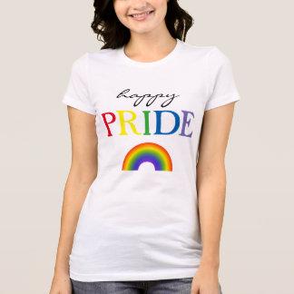 Camiseta Arco iris feliz del orgullo