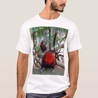 Camiseta Arco iris fresco Lorikeet de la cara,