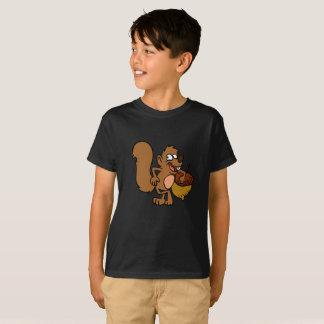Camiseta Ardilla del dibujo animado con la nuez