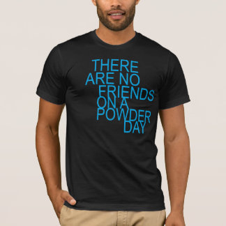 Camiseta are there no friends on a powder day
