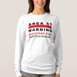 Camiseta Área 51 que advierte